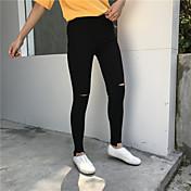 レディース ストリートファッション ハイライズ スリム チノパン パンツ ゼブラプリント