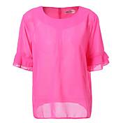 Mujer Noche Tallas Grandes Camiseta Un Color