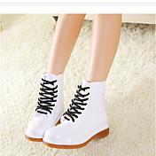 MujerSuelas con luz-Zapatos de taco bajo y Slip-Ons-Informal-PVC-Blanco Negro Rojo