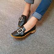 MujerConfort-Zapatos de taco bajo y Slip-Ons-Informal-PU-Negro Amarillo
