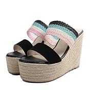 女性用 靴 PUレザー 夏 コンフォートシューズ サンダル のために カジュアル ブラック ピンク