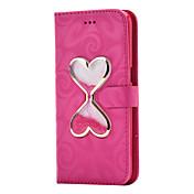 Funda Para Samsung Galaxy S8 Plus S8 Cartera Soporte de Coche con Soporte Líquido Flip Magnética Cuerpo Entero Color sólido Corazón Dura