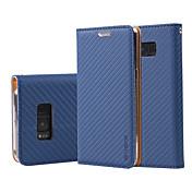 ケース 用途 Samsung Galaxy S8 Plus S8 ウォレット カードホルダー スタンド付き フリップ フルボディー 純色 ハード PUレザー のために S8 S8 Plus S7 edge S7 S6 edge S6