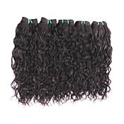 卸売天然の波の処女の髪の束は500グラムが良い8aのグレード品質ブラジルの人間の髪の拡張子ブラジルの髪の織物ナチュラルブラック色