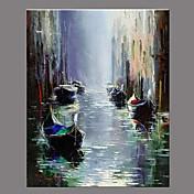 手描きの 風景 レトロ風 1枚 キャンバス ハング塗装油絵 For ホームデコレーション