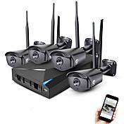 jooan® 4ch inalámbrico nvr kit 1080p al aire libre visión nocturna 2.0mp ip cámara cctv sistema