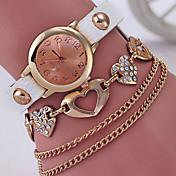 Mujer Reloj de Moda Reloj Pulsera Simulado Diamante Reloj Cuarzo Reloj Casual Aleación Banda Elegantes Negro Blanco Azul Rojo Verde Rose