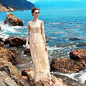 Mujer Corte Ancho Vestido Floral Maxi