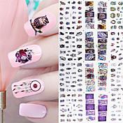 12 Adesivos para Manicure Artística maquiagem Cosméticos Designs para Manicure
