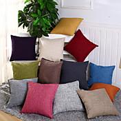 ファッション12色ソリッドピローケースシンプルプレーン装飾クッションカバーホームデコレーション