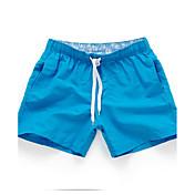 Hombre Casual Activo Sensual Tiro Medio Rígido Holgado Shorts Pantalones,Un Color 100% poliéster Primavera Verano Otoño