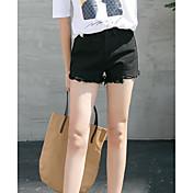 レディース ストリートファッション ミッドライズ ワイドレッグ マイクロエラスティック ジーンズ ショーツ パンツ ゼブラプリント
