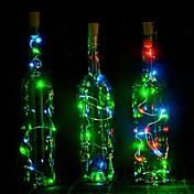 1 unid 2 m 20led corcho en forma de estrella led noche estrellada alambre de cobre tapón botella de vino decoración de la lámpara de colores
