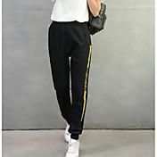レディース ストリートファッション ハイライズ ルーズ マイクロエラスティック チノパン パンツ