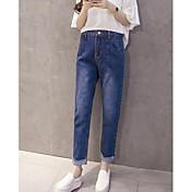 レディース ストリートファッション ハイライズ ルーズ 非弾性 ジーンズ パンツ ゼブラプリント