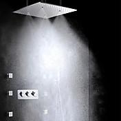 シャワーシステム サイドスプレー レインシャワー ハンドシャワーは含まれている with  セラミックバルブ 3つのハンドル8つの穴 for  クロム , シャワー水栓