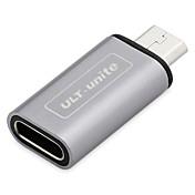 Micro USB 2.0 Adaptador, Micro USB 2.0 to USB 2.0 Tipo C Adaptador Macho - Hembra