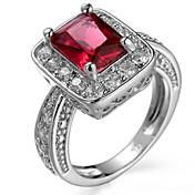 女性用 指輪石座 バンドリング 指輪 キュービックジルコニア ベーシック サークル ユニーク 幾何学形 ブリティッシュ クラシック Elegant 耐久 ファッション 愛らしいです あり かわいいスタイル 欧米の 映画ジュエリー 高級ジュエリー シンプルなスタイル アメリカ