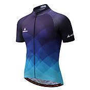 Miloto Maillot de Ciclismo Hombre Manga Corta Bicicleta Camiseta/Maillot Top Banda reflectante Secado rápido Transpirabilidad Eslático