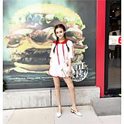 レディース 結婚式 夏 Tシャツ(21) パンツ スーツ,ソークオフ ラウンドネック Appleロゴアイデアデザイン
