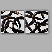 Pintada a mano Abstracto Art Decó / Retro Cool Dulce Especial Alta calidad Moda Dos Paneles Lienzos Pintura al óleo pintada a colgar For