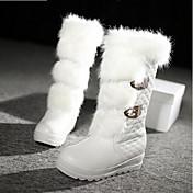Mujer Zapatos PU Invierno Confort / Botas de Moda Botas Blanco / Negro