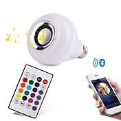 12W E27 LEDスマート電球 28 LEDの SMD Bluetooth 調光可能 リモコン操作 装飾用 RGB 1000lm 3000/6000K AC100-240V