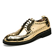 Hombre Zapatos PU microfibra sintético Primavera Otoño Zapatos formales Zapatos De Buceo Oxfords Con Cordón Para Boda Casual Fiesta y