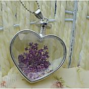 Mujer Corazón Floral Estilo lindo Collares con colgantes Legierung Collares con colgantes , Boda Fiesta Cumpleaños Diario