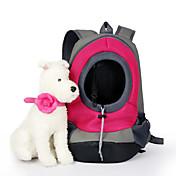 ネコ 犬 キャリーバッグ ペット用 バスケット ソリッド 携帯用 高通気性 イエロー レッド グリーン ブルー ピンク