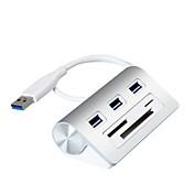 3 puertos Hub USB USB 3.0 Con lector de tarjetas (s) Retención de Datos Protección de Entrada Protección contra Sobrecarga Hub de datos