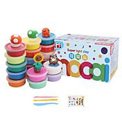 知育玩具 パティ 論理的思考おもちゃ&パズル プレイ生地、Plasticine&パテ おもちゃ 円形 ノベルティ柄 DIY 指定されていません 1 小品
