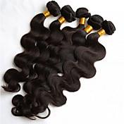 El pelo humano natural del color 5pcs / lot 8-26inch teje los paquetes brasileños del pelo humano de la onda del cuerpo de la textura
