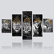 Impresión de lienzo Cinco Paneles Lienzos Estampado Decoración de pared For Decoración hogareña