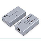 USB 2.0 Splitter, USB 2.0 to Cat 5e UTP Cat 6e UTP Splitter Hembra - Hembra