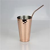 Taza de coctel plateada cobre del jugo del acero inoxidable del oro color de rosa 350ml