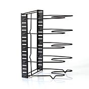 5層折りたたみアイアンアート多機能コレクションキッチンボードパン蓋ラック