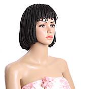 """ヘアブレイズ 10"""" 人毛のかぎ針編みひも 100%カネカロンヘア ブラック ミディアムブラウン ブレイズヘア ヘアエクステンション"""