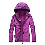LEIBINDI 女性用 3-in-1 ジャケット アウトドア 冬 速乾性 防風 防雨 伸縮性 トップス 防水機能 シングルファスナー ランニング 登山 旅行 ウィンタースポーツ