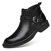 zapatos de hombre cuero de vaca real napa cuero otoño invierno botas de moda botas de moto botas de combate bootie botas botines / botines