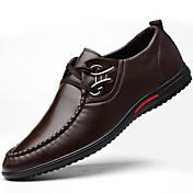 メンズ 靴 レザーレット 秋 冬 フォーマルシューズ オックスフォードシューズ リベット 用途 パーティー ブラック Brown ブルー