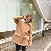 レディース カジュアル/普段着 冬 コート,シンプル シャツカラー ソリッド ロング その他 長袖
