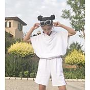 レディース カジュアル/普段着 夏 パーカー パンツ スーツ,シンプル ソリッド 半袖