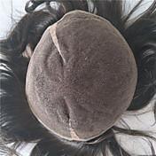 8 * 10ナチュラルヘアライン2#男性のトープの人間の髪のかつらとヘアピース