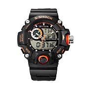 Hombre Reloj Deportivo Reloj de Pulsera Reloj Casual Reloj digital Suizo Digital Calendario Cronógrafo Resistente al Agua LED Dos Husos