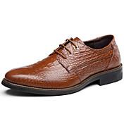 男性用 靴 レザー 秋 / 冬 フォーマルシューズ オックスフォードシューズ ブラック / Brown / ブルー / パーティー