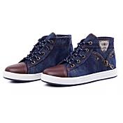 Chico Zapatos Vaquero PU Primavera Otoño Confort Zapatillas de deporte Cremallera Con Cordón Para Casual Azul