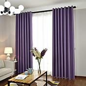 Corredizo Anillo Lazo de tela Doble plisado Solo plisado Ventana Tratamiento Europeo , Hilos teñidos Un Color Dormitorio Material