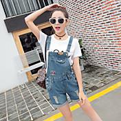 Mujer Bonito Tiro Medio Microelástico Corte Recto Mono Shorts Pantalones, Un Color Verano