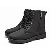 Hombre Zapatos Goma Verano Otoño Botas de Combate Botas Con Cordón Para Negro Marrón